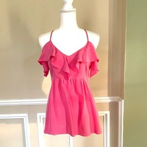 ALICE & TRIXIE Pink Ruffle Halter Top
